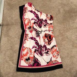 One shoulder London Times floral dress
